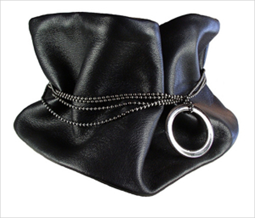 Lambskin cashmere lined cowl