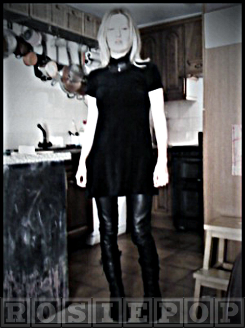 Leather trousers velvet dress marketa necklace ann demeulemeester boots-WM
